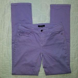 WHBM Purple Slim Ankle Jeans